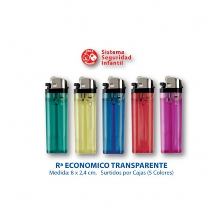 Mechero Económico Transparente